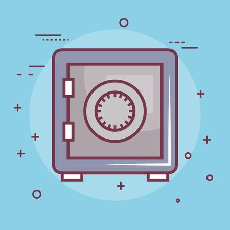 Safe over blue background. Vector illustration design.