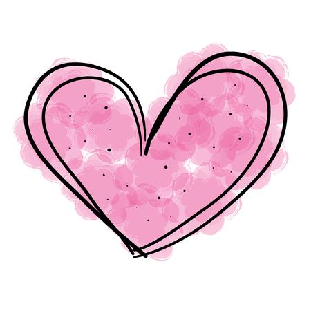 Hart liefde romantisch pictogram vector illustratie ontwerp Stockfoto - 77630361