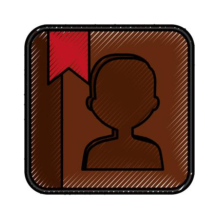 phone agend application icon vector illustration design