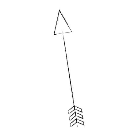 Cupid Pfeil isoliert Symbol Vektor-Illustration Design Standard-Bild - 77659627