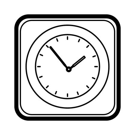time clock application icon vector illustration design Illustration