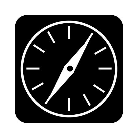 compass guide application icon vector illustration design Иллюстрация