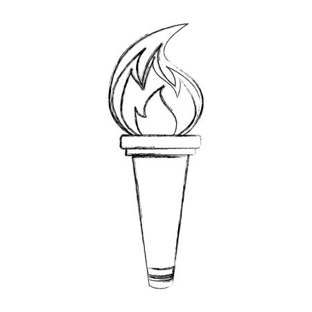 Olympic torch isolated icon vector illustration design Иллюстрация