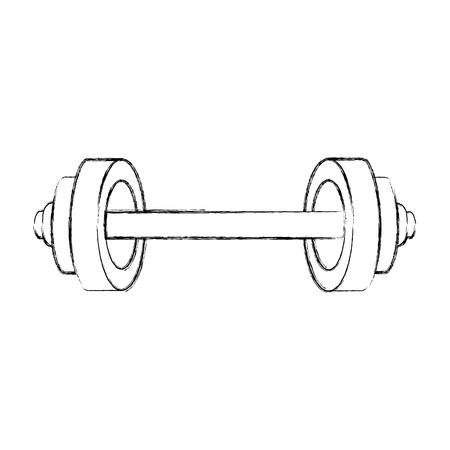weight lifting isolated icon vector illustration design