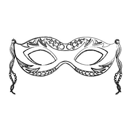 Carnaval masker geïsoleerd pictogram vectorillustratieontwerp