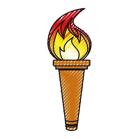 torch isolated icon vector illustration design Stock fotó - 77659805