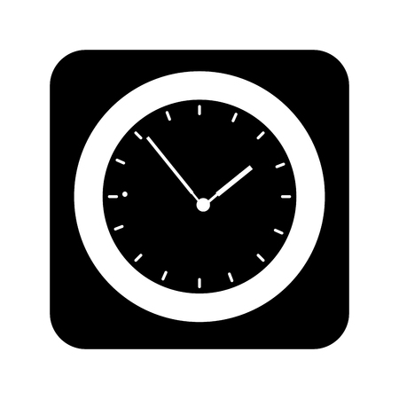 time clock application icon vector illustration design Illustration