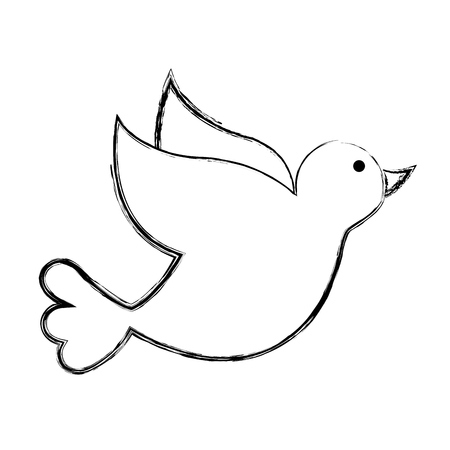 dove drawing isolated icon vector illustration design