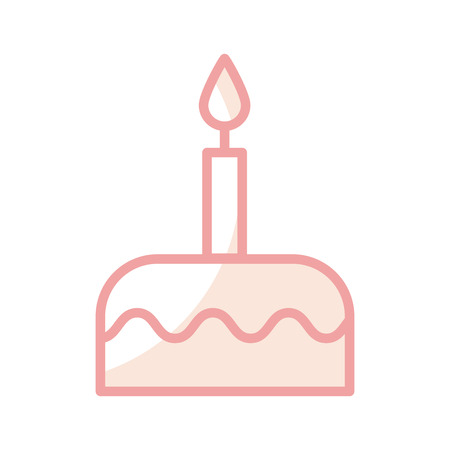 delicious birthday cake icon vector illustration design