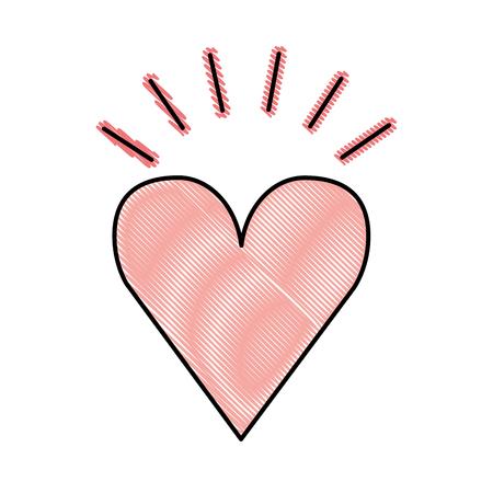 Hart liefde romantisch pictogram vector illustratie ontwerp Stockfoto - 77660036