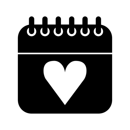 calendar with heart icon vector illustration design Illustration
