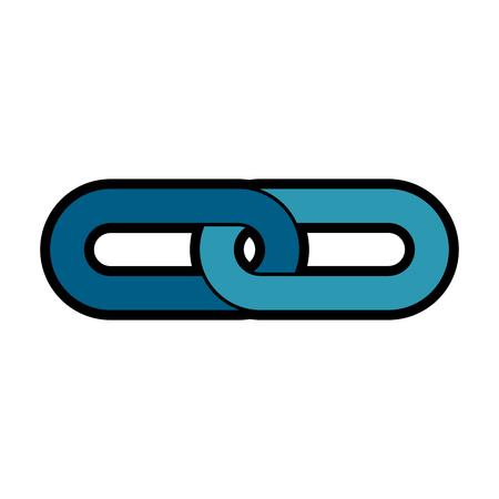 steel chain isolated icon vector illustration design Illusztráció