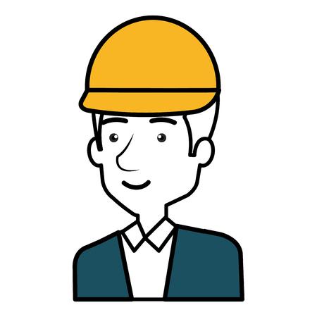 Diseñador de la construcción avatar carácter ilustración vectorial diseño Foto de archivo - 77696266