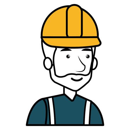 Trabajador de la construcción avatar carácter de ilustración vectorial de diseño Foto de archivo - 77696270