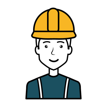 A construction workman avatar character vector illustration design Reklamní fotografie - 77696632