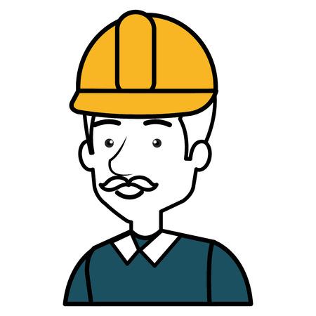 Diseñador de la construcción avatar carácter ilustración vectorial diseño Foto de archivo - 77696275