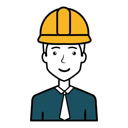 Diseñador de la construcción avatar carácter ilustración vectorial diseño Foto de archivo - 77696317