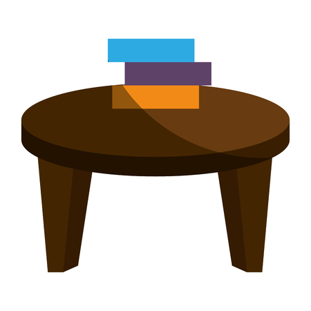 school table with books isolated icon vector illustration design