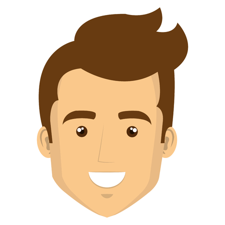 young man casual avatar vector illustration design