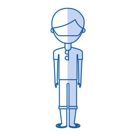 young man with summer fashion vector illustration design