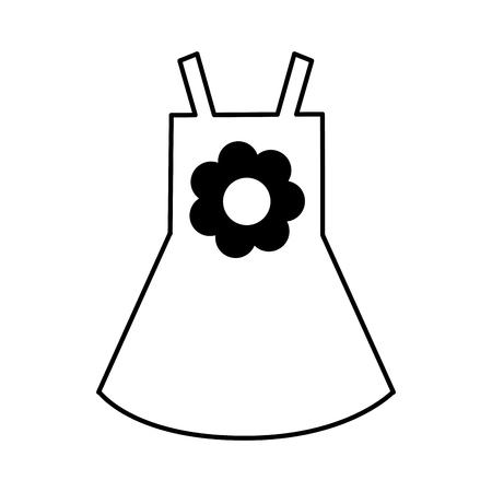 enfant maillot de bain: Beach girl dress with flower vector illustration design Illustration