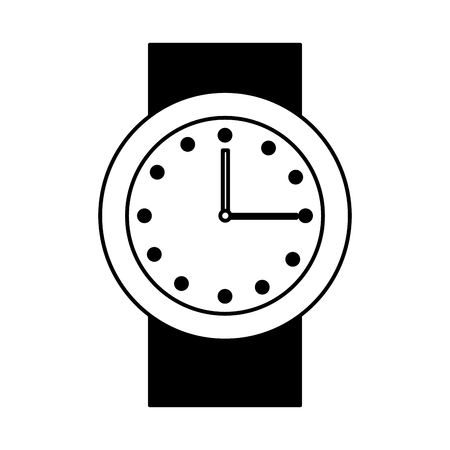 hand watch isolated icon vector illustration design
