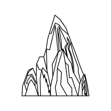 산 피크 상징 아이콘 벡터 일러스트 디자인 스톡 콘텐츠 - 77701204