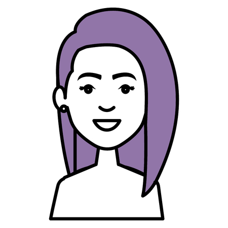 Beautiful and young woman student vector illustration design