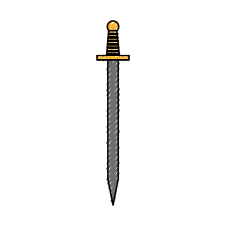Artistic sword isolated icon vector illustration design