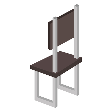 forniture: chair forniture isometric icon vector illustration design