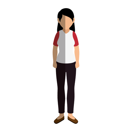 businesswoman isometric avatar character vector illustration design
