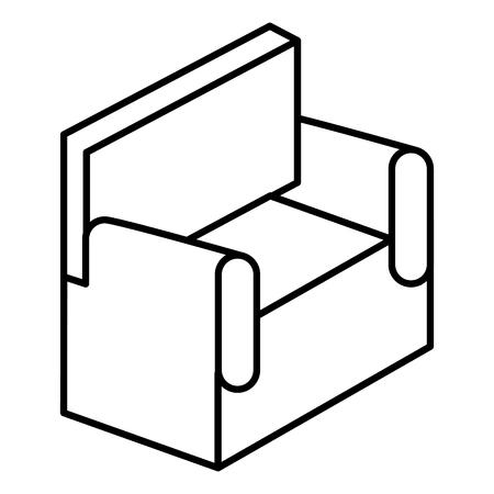 sofa isometric isolated icon vector illustration design