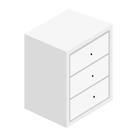 Bedside table with drawers vector illustration design Çizim