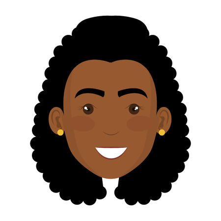beautiful and young black woman student vector illustration design Illustration