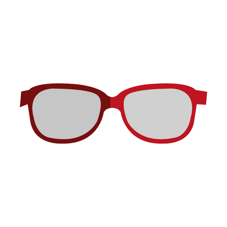 glasses view isolated icon vector illustration design