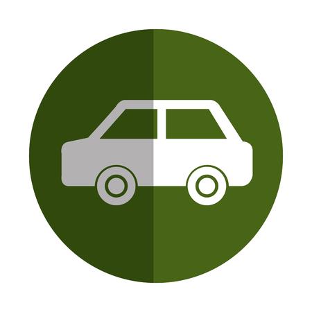 green car ecology symbol vector illustration design