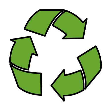 arrows recycle ecology symbol vector illustration design