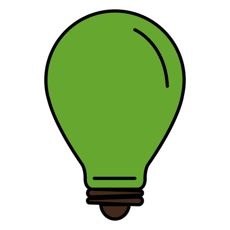 bulb light ecology icon vector illustration design