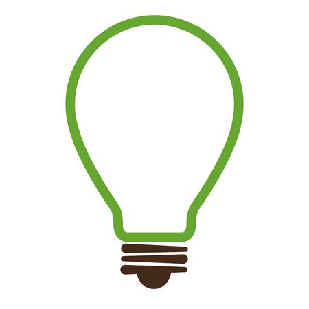 bulb light ecology icon vector illustration design