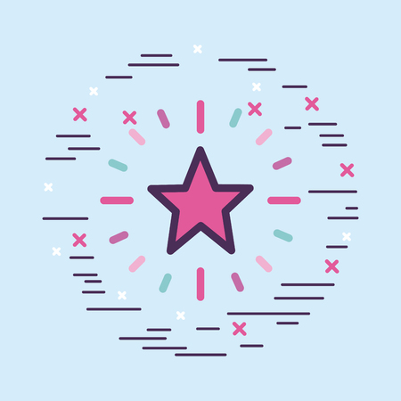 star girly icon over background image vector illustration design