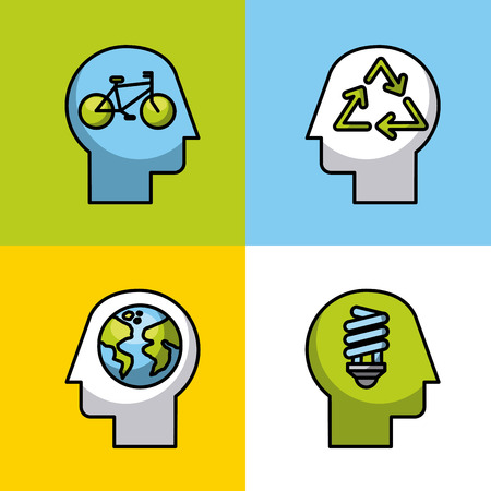 eco friendly related icons image vector illustration design Ilustrace