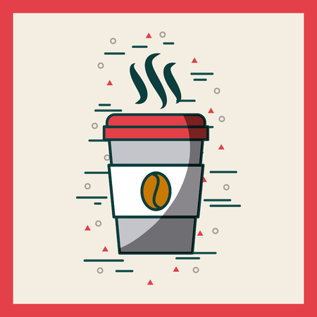 disposable coffee cup image poster vector illustration design