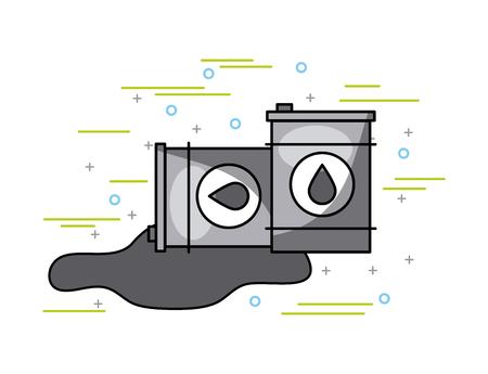 twee olie vaten afbeelding vector illustratie ontwerp Stock Illustratie