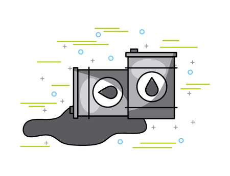 two oil barrels image vector illustration design Ilustração