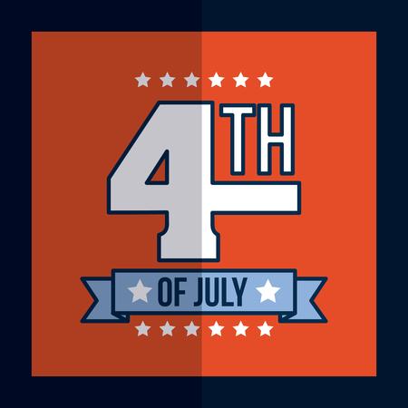 4th of july image vector illustration design Ilustrace