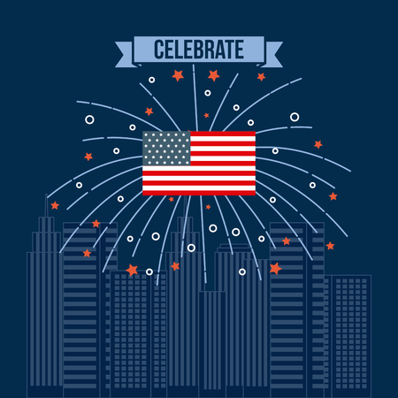 4th of july emblem image vector illustration design Reklamní fotografie - 77708367