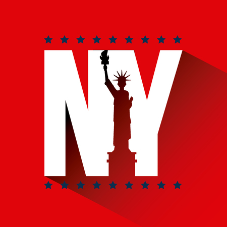 statue of liberty new york city related image vector illustration design