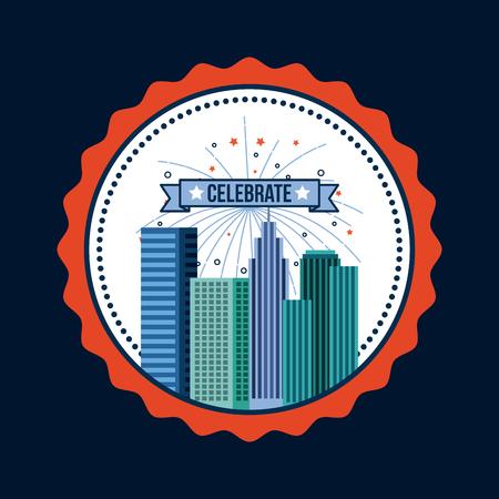 4th of july emblem image vector illustration design