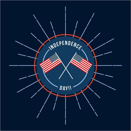 4th of july emblem image vector illustration design Reklamní fotografie - 77708660