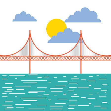 golden gate san francisco usa image vector illustration design